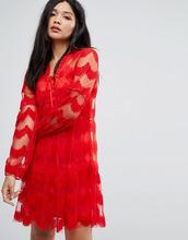 Boohoo | Кружевное платье Boohoo - Красный | Clouty