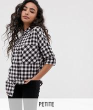 Noisy May | Рубашка в клетку Noisy May Petite - Мульти | Clouty