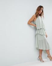 ASOS   Платье миди на бретельках с блестками ASOS - Зеленый   Clouty
