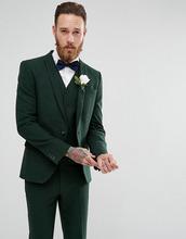 ASOS | Зеленый пиджак скинни ASOS Wedding - Зеленый | Clouty