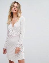 Vila | Бархатное платье с запахом Vila - Рыжий | Clouty