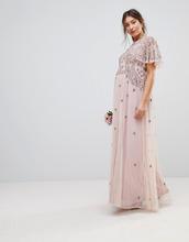 ASOS | Платье макси с рукавами клеш и отделкой бисером ASOS Maternity WEDDING | Clouty