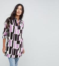 Noisy May | Платье-рубашка с принтом Noisy May Tall - Мульти | Clouty