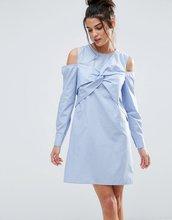 ASOS | Хлопковое платье-рубашка с открытыми плечами и отделкой в стиле оригам | Clouty