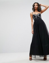 ASOS   Платье макси из тюля ASOS - Черный   Clouty