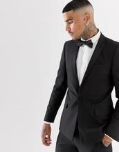 ASOS | Черный пиджак-смокинг скинни с атласными лацканами ASOS - Черный | Clouty