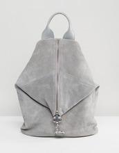 ASOS | Замшевый рюкзак с карабинным замком ASOS - Серый | Clouty