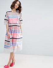 ASOS   Свободное платье с флуоресцентными полосками ASOS SALON - Мульти   Clouty