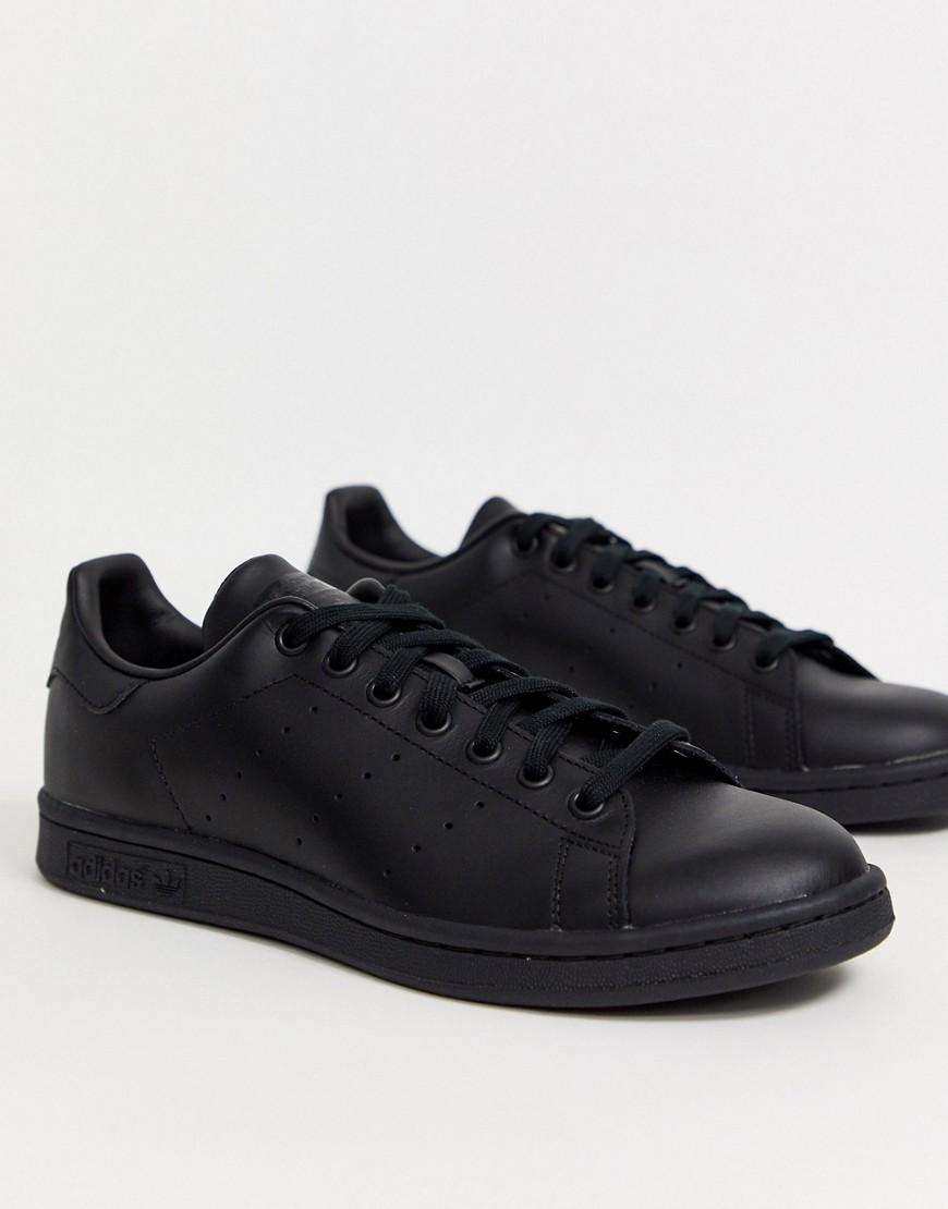 30bcf2b02c98 Adidas Originals   Черные кожаные кроссовки adidas Originals Stan Smith  M20327 - Черный   Clouty ...