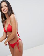 Boohoo | Комбинируемые плавки бикини с ремешками по бокам Boohoo - Красный | Clouty