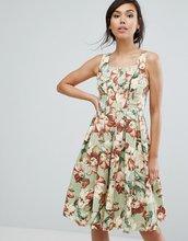 Vesper | Короткое приталенное платье с цветочным принтом в винтажном стиле Vesp | Clouty