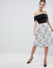 Vesper | Короткое приталенное платье 2-в-1 с принтом Vesper - Мульти | Clouty