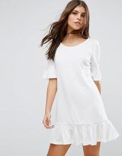 Vila | Цельнокройное платье асимметричной длины с рукавами рюшами Vila | Clouty