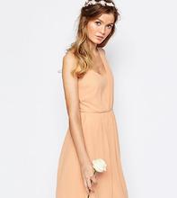 Vila | Платье на одно плечо Vila - Розовый | Clouty