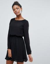 Vila | Короткое приталенное платье с длинными рукавами Vila - Черный | Clouty