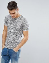 Selected Homme | Меланжевая футболка с добавлением хлопка Selected Homme - Серый | Clouty