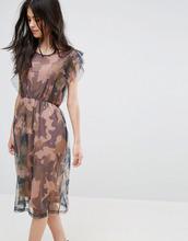 Vila | Платье с рукавами клеш Vila - Зеленый | Clouty