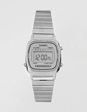 Casio   Серебристые цифровые часы Casio LA670WEA-7EF - Серебряный   Clouty