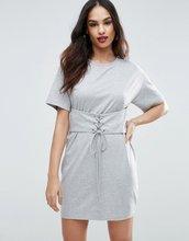 ASOS | Платье‑футболка с отделкой в стиле корсета ASOS - Серый | Clouty