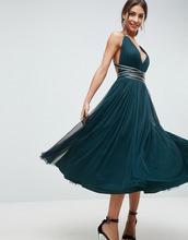 ASOS | Платье миди для выпускного из тюля с лентой ASOS PREMIUM - Зеленый | Clouty