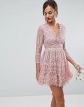 ASOS | Кружевное платье мини для выпускного с длинными рукавами ASOS | Clouty