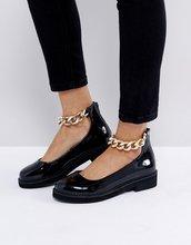 ASOS | Туфли на плоской подошве ASOS MINGLE - Черный | Clouty