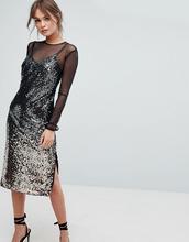 Coast | Сетчатое платье с эффектом омбре и пайетками Coast Gisella - Мульти | Clouty