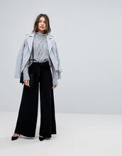 Y.A.S.   Широкие брюки с завышенной талией Y.A.S - Черный   Clouty