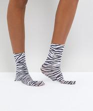 ASOS | Носки с принтом зебра ASOS - Черный | Clouty