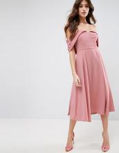 ASOS | Платье миди для выпускного с открытыми плечами и отворотом ASOS | Clouty
