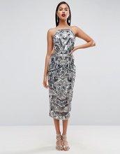ASOS   Платье миди с открытой спиной ASOS RED CARPET - Мульти   Clouty