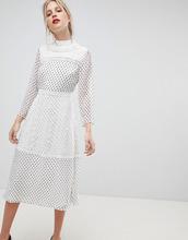 ASOS   Платье миди в горошек с вышивкой ASOS - Мульти   Clouty