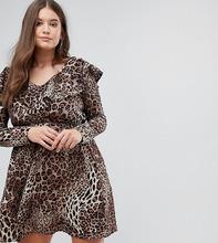 Club L | Платье с оборкой Club L Plus - Мульти | Clouty