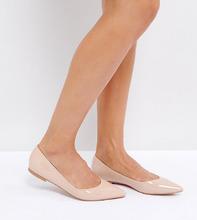 ASOS | Балетки с острым носком ASOS LATCH - Бежевый | Clouty