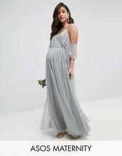 ASOS | Платье макси с расклешенными рукавами и отделкой ASOS Maternity WEDDIN | Clouty