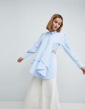 ASOS   Рубашка с вырезами ASOS WHITE - Синий   Clouty
