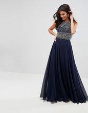 ASOS   Платье макси с укороченным топом и отделкой бисером ASOS - Мульти   Clouty