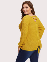 Shein | Lace Up Back Sweater | Clouty