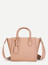 Shein | Shoulder Bag With Embroidered Strap | Clouty