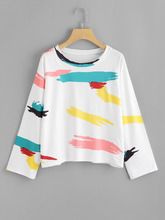 Shein | Graffiti Print Tee | Clouty