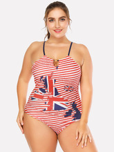 Shein | Striped Cut Out Swimsuit | Clouty
