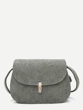 Shein   Metal Detail Saddle Bag   Clouty