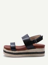 Shein | Sparkle Strappy Espadrille Flatform Sandals | Clouty