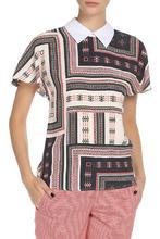 Yarmina | Полуприлегающая блузка с узорами YARMINA | Clouty