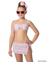 Charmante | Купальник для девочек (бюст, плавки, юбка) GBZ051507 Vanilla | Clouty