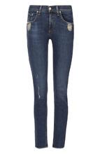 RAG & BONE | Укороченные джинсы с бахромой и потертостями Rag&Bone | Clouty