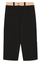 No. 21 | Хлопковые брюки прямого кроя с логотипом бренда No. 21 | Clouty