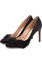 VALENTINO | Замшевые туфли Valentino Garavani Pretty Bow на шпильке Valentino | Clouty