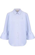 Marc Jacobs | Хлопковая блуза с укороченными расклешенными рукавами Marc Jacobs | Clouty
