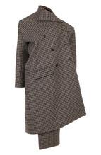 Balenciaga | Шерстяное пальто асимметричного кроя в клетку Balenciaga | Clouty